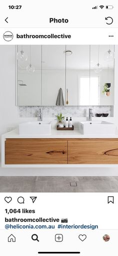 Bathroom vanity timber drawers Ideas for 2019 Timber Bathroom Vanities, Bathroom Splashback, Timber Vanity, Bathroom Cabinetry, Steam Showers Bathroom, Laundry In Bathroom, Shower Bathroom, Master Bathroom, Floating Drawer