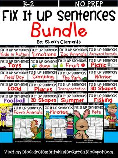 Fix It Up Sentences BUNDLE- Capital letters and ending punctuation - Great for writing centers, morning work, or homework…