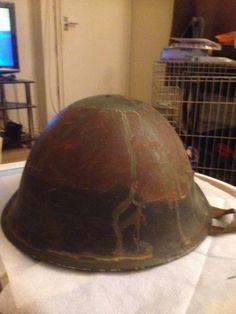 VINTAGE BRITISH ARMY TURTLE HELMET