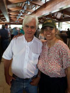 Bob Baffert and I at the Keeneland sales