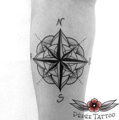 Compass Tattoo by Roxanne Lucas
