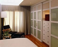 Master Bedroom Storage built-ins are great for more storage | bedroom | pinterest