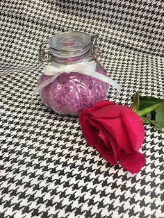 Lavender bath salts, aromatherapy spa salts, custom made gift sets , graduation gifts, wedding shower favors, bridal party