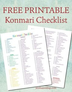 Clear away all that I don't want in my life // FREE printable Konmari Checklist! Colorful and joy-sparking, hopefully this will help you on your konmari journey! Marie Kondo Konmari, Marie Kondo Methode, Vida Frugal, Konmari Methode, 1000 Lifehacks, Ideas Para Organizar, Up Book, Tidy Up, Getting Organized
