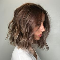 Formulas A: PRAVANA Pure Light Balayage Lightener + High Activator + Olaplex No.1 B (roots): Redken Shades EQ 7V + Shades EQ Processing Solution Formula C (hairline,ends) Shades EQ equal parts 8V + 9P + Shades EQ Processing Soln STEPS 1. Apply A from mid to ends, fully saturating ends. Wrap each section in balayage film, process 40 min with heat. 2. Rinse. Apply Wella Professionals Service Color Post Treatment. Rinse. Tone with B & C for 20 min. 3. Treat with Olaplex No.2 20 min.