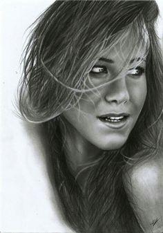 Jenniferaniston pencil drawing