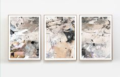 Abstract Art Print Set, Set of 3 Prints, Printable Abstract, instant download, Minimal art, 11x14, A2 & 10x8 Prints, Gallery wall prints by DanHobdayArt on Etsy