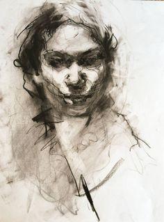 "Saatchi Art Artist Agnes Grochulska; Drawing, ""Portrait #2"" #art"