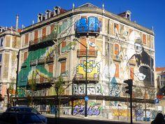 Ericailcane + Lucy Maclauchan - Picoas, Street art, Lisbona