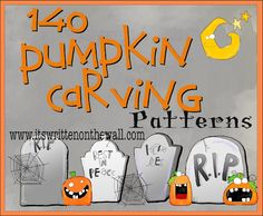 (At least) 140 FREE Halloween Pumpkin Carving Patterns. Keep in mind for Halloween.