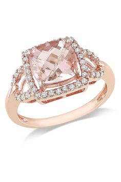Champagne dimond and rose gold ring.