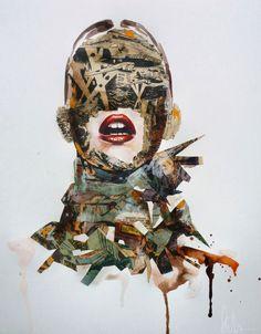 Sandra Chevrier es una pintora canadiense que realiza retratos poco convencionales de mujeres