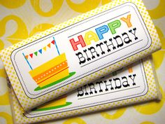 Printable Birthday Candy Bar Wrapper- LOVE.