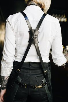 Leather apron Men's apron Work apron Barista apron Barber