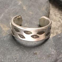Sterling Silver Mens Unisex Flowering Vine Band Large Big Toe Adjustable Toe Ring