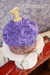 love this cupcake idea for a smash cake - and this is just the perfect color for my theme!!
