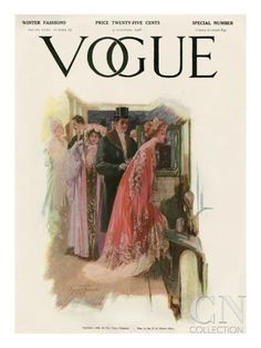 Vogue Cover - November 1908 Poster Print by Stuart Travis at the Condé Nast Collection