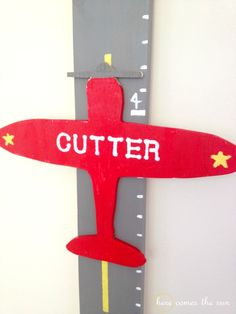 DIY Airplane Growth Chart - Here Comes The Sun