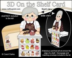 3D On the Shelf Card Kit The Coffee Shop Old Man Sylvester on Craftsuprint - View Now!