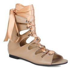 Ribbon Faux Leather Zipper Sandals via Polyvore featuring shoes, sandals, zip sandals, zipper sandals, vegan shoes, ribbon shoes and zip shoes