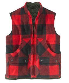 Men's Bethlehem Reversible Wool Vest