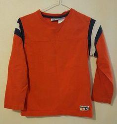 Boys Athletic Works Orange Long Sleeve Shirt Size Small 6/7 100% Cotton | eBay Shopping