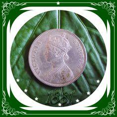 1881 Vintage Old Queen Victoria Empress Silver Coin