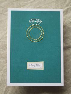 Bling, Bling- Engagement Card