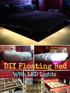 DIY Floating Bed idea with LED Lights |  Make your own Easy DIY bed by using few things.. Check it out!!