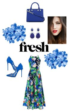"""""""Fresh flowers"""" by stephstyle76 ❤ liked on Polyvore featuring René Caovilla, L.K.Bennett, MICHAEL Michael Kors and Bounkit"""