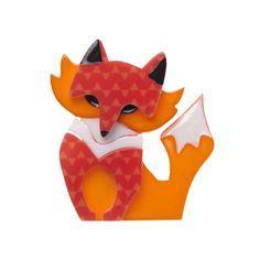 """Erstwilder Limited Edition Fluer the Foxy Flame resin brooch. """"Fleur is aware that much like the brightest of flames her foxy good looks can only burn for so long. Vintage Costume Jewelry, Vintage Costumes, Buy Gifts Online, Gifts Australia, Quirky Fashion, Resin Jewelry, Jewellery, Gifts For Kids, Personalized Gifts"""