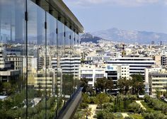 Athens - Panoramic view - The Stavros Niarchos Foundation Center Stavros Niarchos, Athens Greece, Summer Heat, The Crown, San Francisco Skyline, Skyscraper, Foundation, Greek, Park