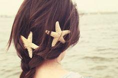 Trança + estrelas do mar.