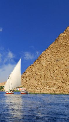 Nile River, Pyramaids, Egypt iPhone 5 wallpapers, backgrounds, 640 x 1136