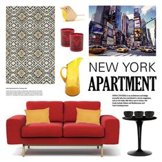 """""""New York Apartment"""" by lgb321 ❤ liked on Polyvore featuring interior, interiors, interior design, home, home decor, interior decorating, Modloft, Kaleen, Jill Rosenwald and Ligne Blanche"""