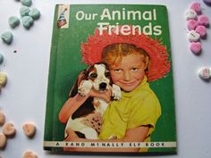 Vintage Children's TIP TOP ELF Book - McNally Elf book - Our Animal Friends by ScrapPantry, $3.00 USD