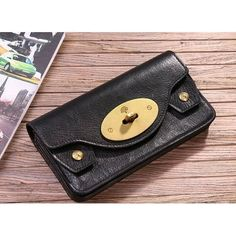 e03cf09bb4 Refined Mulberry 312A Natural leather Purses Black sale
