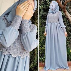Image may contain: one or more people Dress Brukat, Hijab Dress Party, Hijab Style Dress, Batik Dress, Muslim Women Fashion, Islamic Fashion, Abaya Fashion, Fashion Dresses, Moslem Fashion