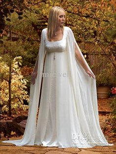 Wholesale Empire Waist A-line Sleeveless Shawl chiffon White Ivory Pregnant Bridal Wedding Dresses 211, Free shipping, $118.72-132.16/Piece | DHgate