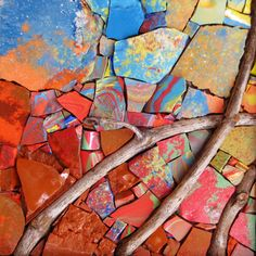 Mosaic Art, Mosaic Ideas, Stepping Stones, Artist, How To Make, Van, Painting, Facebook, Color