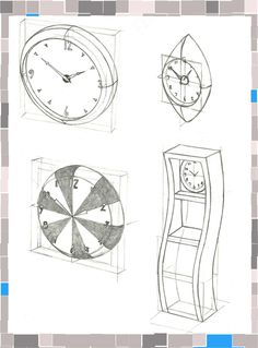 Clock Design Sketches by Andrew Lawrence at Coroflot.com