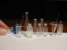Miniature glassware from Ray Storey Lighting