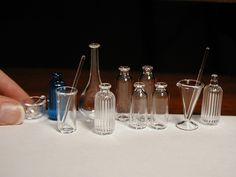 Miniature glassware from Ray Storey Lighting