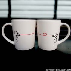 I love these mugs! I bought them for my boyfriend last year. Perfect for a long distance relationship.