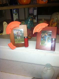 Shooting clay pigeons gift picture frame skeet shooting