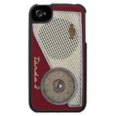 retro radio iPhone 4 cases