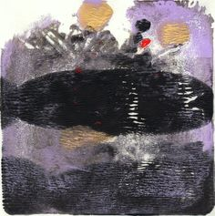 """Tarre, 6x6"""", Monotype, abstract art by Amantha Tsaros, $85"""