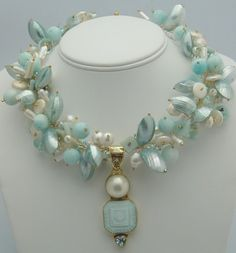 Although this is a necklace, I would like it as a bracelet--Vintage style wedding necklace by Karen Sugarman Designs Beaded Jewelry, Jewelry Necklaces, Handmade Jewelry, Beaded Necklace, Bracelets, Bridal Necklace, Personalized Jewelry, Pearl Necklace, Couleur Rose Pale