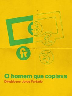 Cartazes minimalistas de filmes brasileiros 9 - O homem que copiava
