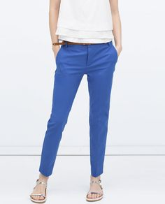 Image 2 of DOUBLE CLOTH TROUSERS from Zara